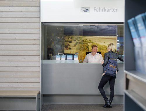 Stellenausschreibung kaufmännische Fachkraft für den Fahrkartenschalter Bahnhof Langeoog